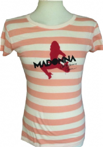 CONFESSIONS TOUR - STRIPED SILHOUTTE LADIES T-SHIRT TOP